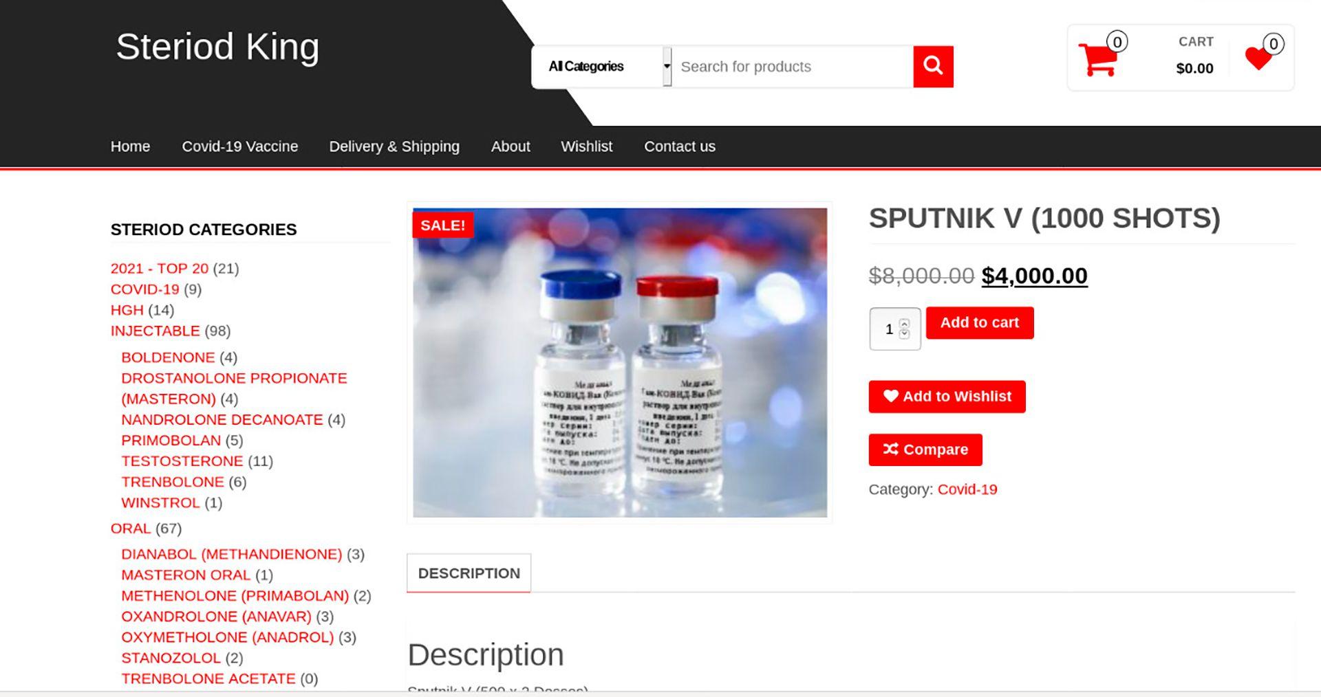 captura vacunas falsas - dark web