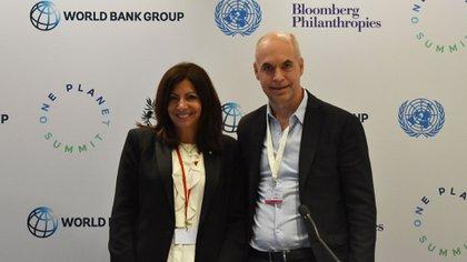 Horacio Rodríguez Larreta y Anne Hidalgo