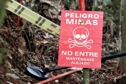 Foto de archivo. Un miembro del Batallón de Desminado Humanitario del Ejército de Colombia busca minas terrestres en Cocorná, en el departamento de Antioquia, Colombia, 3 de marzo, 2015. REUTERS/Fredy Builes