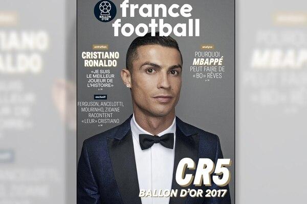 """Resultado de imagen para Cristiano Ronaldo abrió el debate tras ganar su quinto Balón de Oro: """"Soy el mejor jugador de la historia"""""""