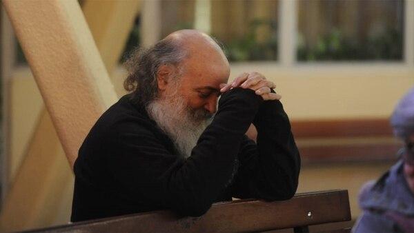 Emilio Pérsico en la parroquia (Quique Medina)