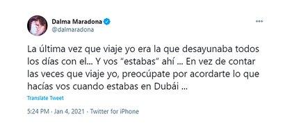 Furioso descargo de Dalma Maradona contra Rocío Oliva