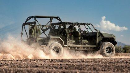 Según la marca, este vehículo cuenta con el 70% de las piezas del modelo de calle.