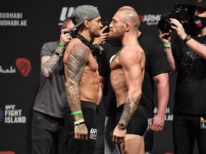 McGregor and Dustin Poirier will meet in Abu Dhabi in the main event of UFC 257 (Photo: Reuters)
