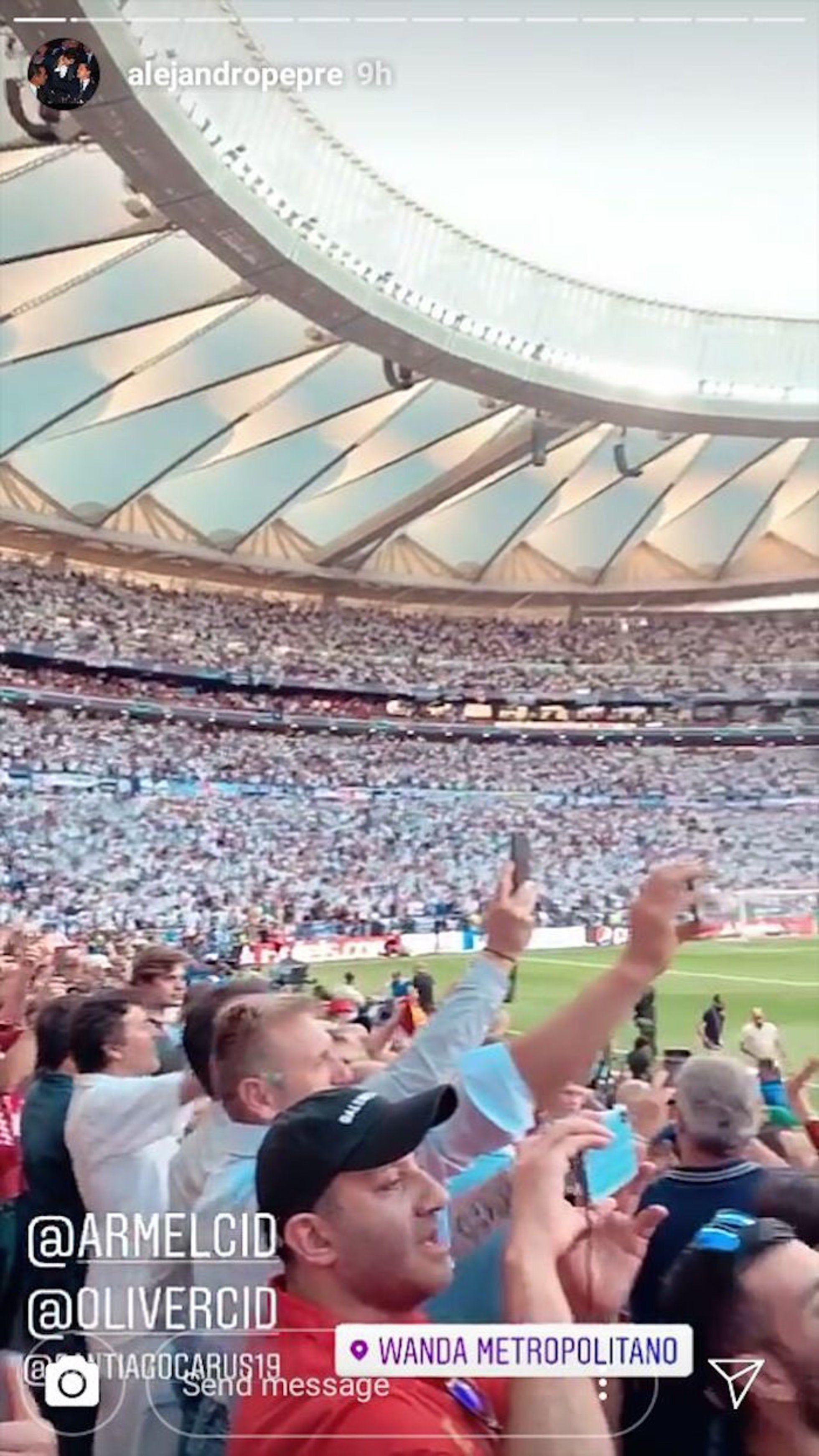 Alejandro Peña fue criticado por asistir a la Champions League (Foto: Instagram)