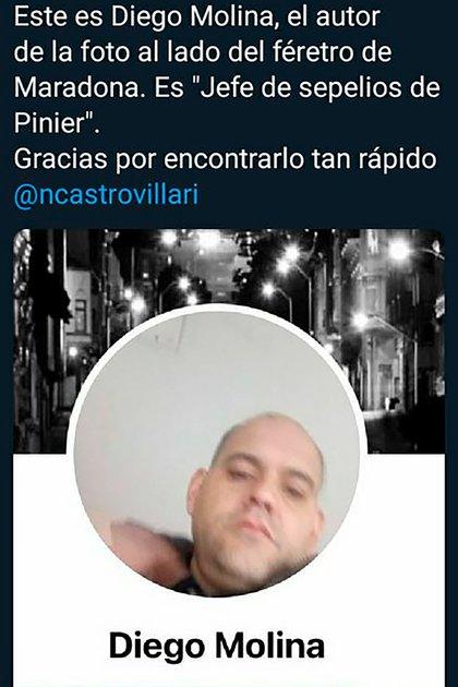 Molina fue escrachado en las redes sociales por su aberrante actitud.