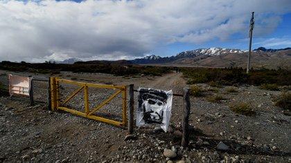 Entrada a la Pu Lof mapuche, lugar de los incidentes del 1° de agosto (Nicolás Stulberg)