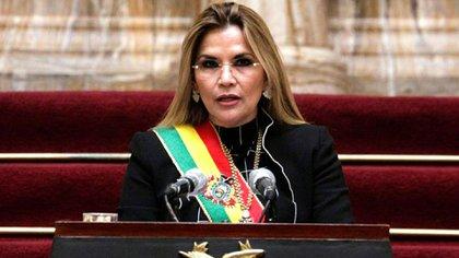 """El gobierno de Jeanine Áñez rompió relaciones con la dictadura de Nicolás Maduro, y sostuvo que Evo Morales es una persona """"hostil al proceso democrático boliviano (REUTERS/David Mercado)"""