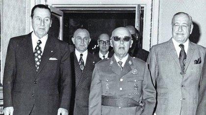 Perón, Cámpora y Franco en La Moncloa