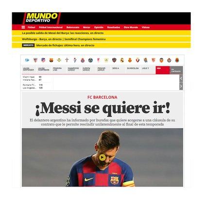 El diario catalán, Mundo Deportivo