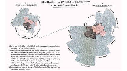 El diagrama en forma de rosa de la reconocida enfermera