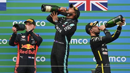 Lewis celebra su 91ª victoria en la Fórmula 1 (Foto: Reuters)
