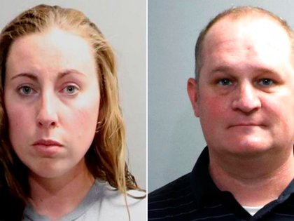 Jillian y Eric Wuestenberg - acusados en michigan por apuntar con un arma a mujer afroamericana