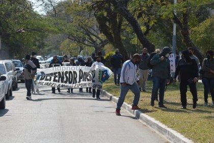 Las protestas de la policía de Chaco por aumentos salariales y reincorporación de compañeros cesanteados