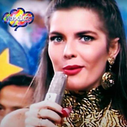 Mónica Santa María llegó al casting con 17 años e impactó a todos (@nubeluzoficial)