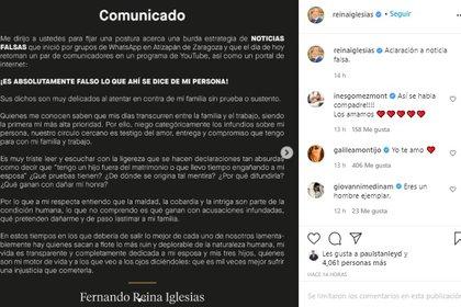 Galilea Montijo respaldó a su esposo tras acusaciones de infidelidad (Foto: Instagram Fernando Reyna Iglesias)