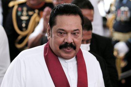 El ex presidente y ahora primer ministro de Sri Lanka Mahinda Rajapaksa (REUTERS/Dinuka Liyanawatte)