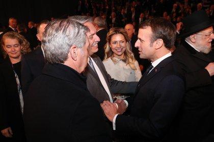 Alberto Fernández y Emmanuel Macron en Jerusalén
