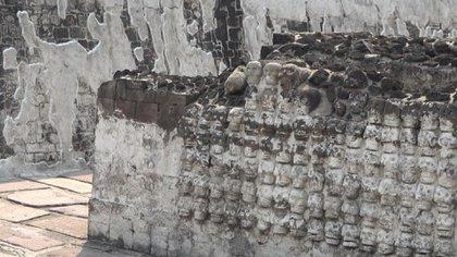 Los tzompantli en el Templo Mayor (Foto: Infobae, Juan Vicente Manrique)