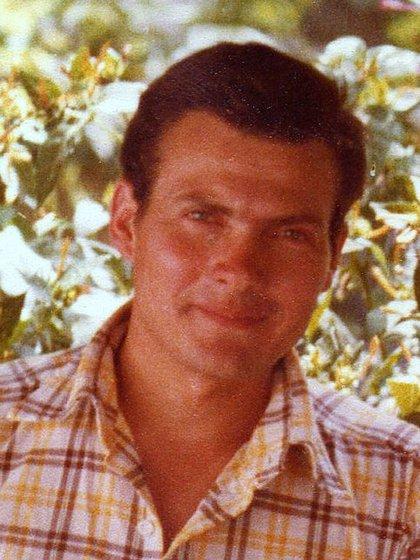 Luis Castagnari en una de sus últimas fotos en el continente, en enero de 1982, en Río Cuarto