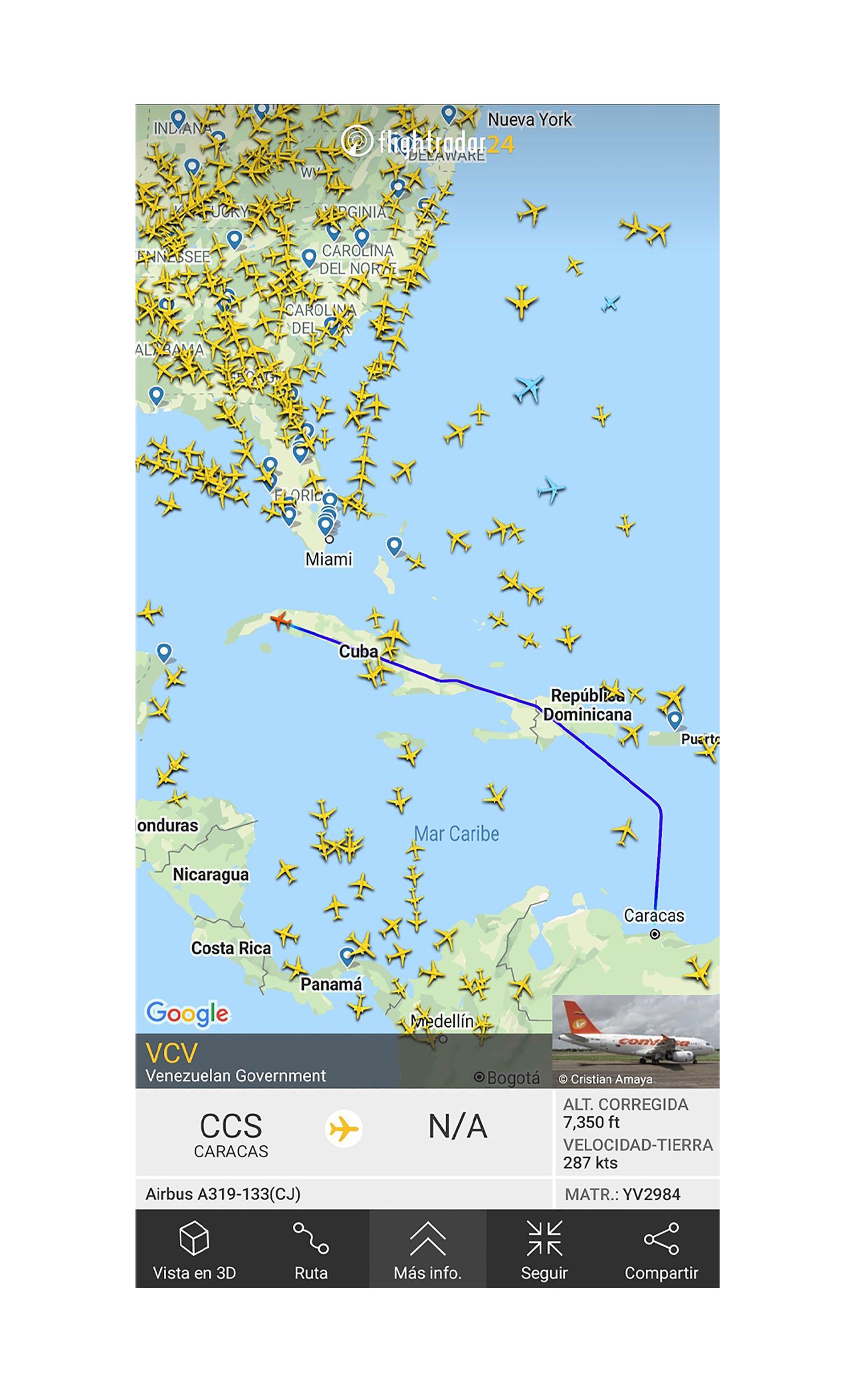 El-avion-presidencial-de-Maduro-llega-a-La-Habana