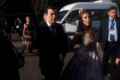 El gobernador de Santiago del Estero Gerardo Zamora y su mujer