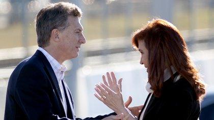 Uno de los pocos actos que compartieron Mauricio Macri y Cristina Kirchner (Foto: NA)