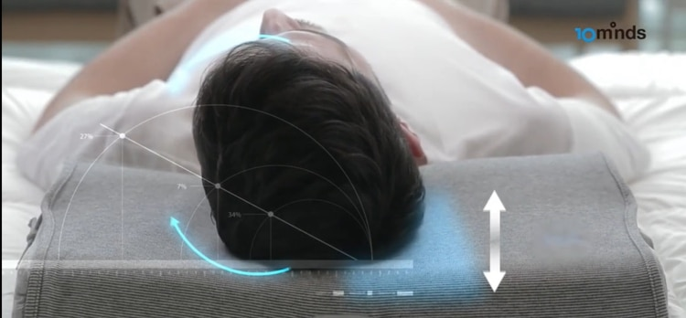 Cuando identifica que la persona ronca, se infla la cámara de aire.