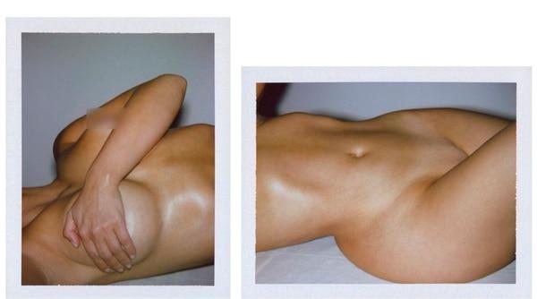 Kim Kardashian publicó estas fotos en primer plano de sus partes íntimas para promocionar sus productos de belleza (Twitter: Kim Kardashian)