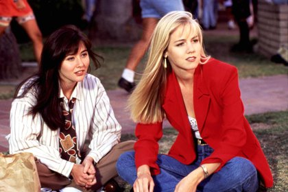 Enemigas íntimas: Shannen Doherty y Jennie Garth, en 1991