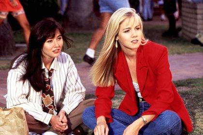 Enemigas íntimas: Shannen Doherty y Jennie Garth, en 1991