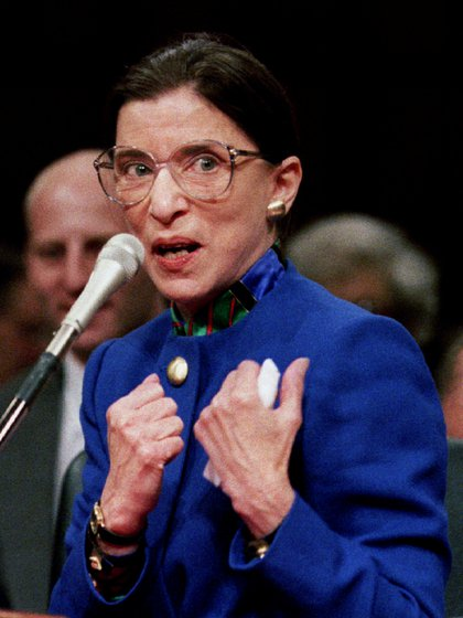 Nicks mencionó que Ruth Bader Ginsburg era su héroe (Foto: REUTERS / Gary Hershorn)