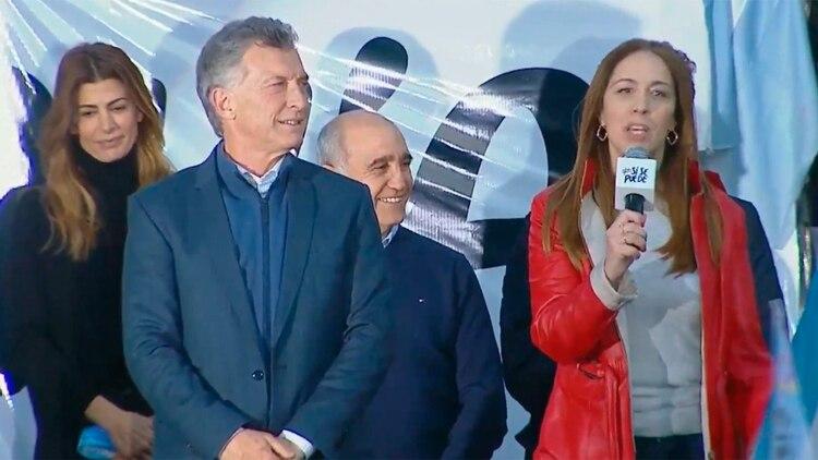 María Eugenia Vidal acompañó a Mauricio Macri en Bahía Blanca
