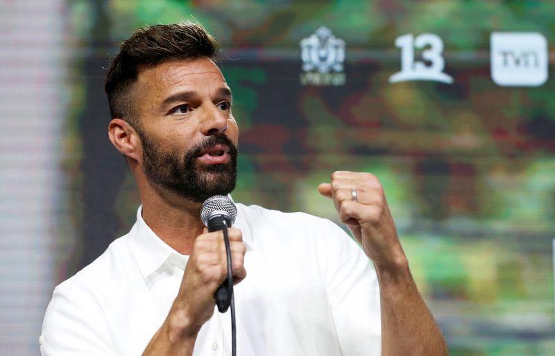 El cantante puertorriqueño Ricky Martin habla durante una conferencia de prensa previa a su actuación en el festival de Viña del Mar, en Chile, Febrero 23, 2020. REUTERS/Rodrigo Garrido