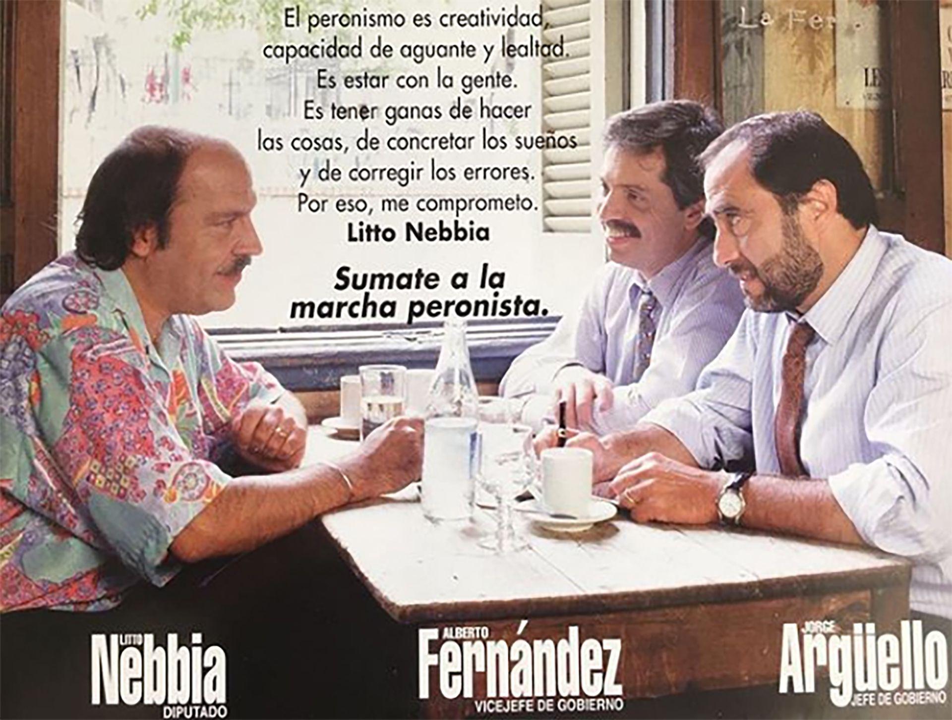 En 1999 fue precandidato a vicejefe de Gobierno de Jorge Argüello en la interna peronista de la Capital Federal, en la que perdió contra la lista de Raúl Granillo Ocampo, de origen menemista. Su amigo Litto Nebbia había aceptado ir como precandidato a diputado nacional.
