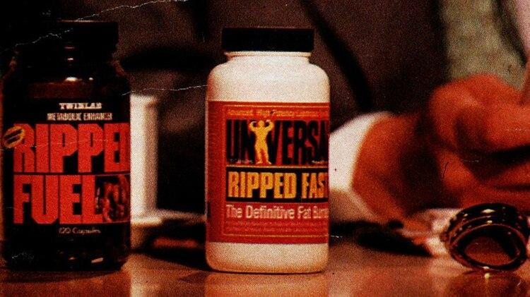 "Imagen del medicamento prohibido que ingirió Maradona: ""RIPPED FUEL"""