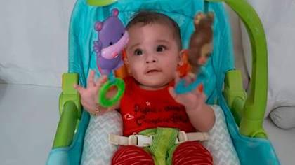 Dom, el bebé que venció al COVID-19 en Río de Janeiro