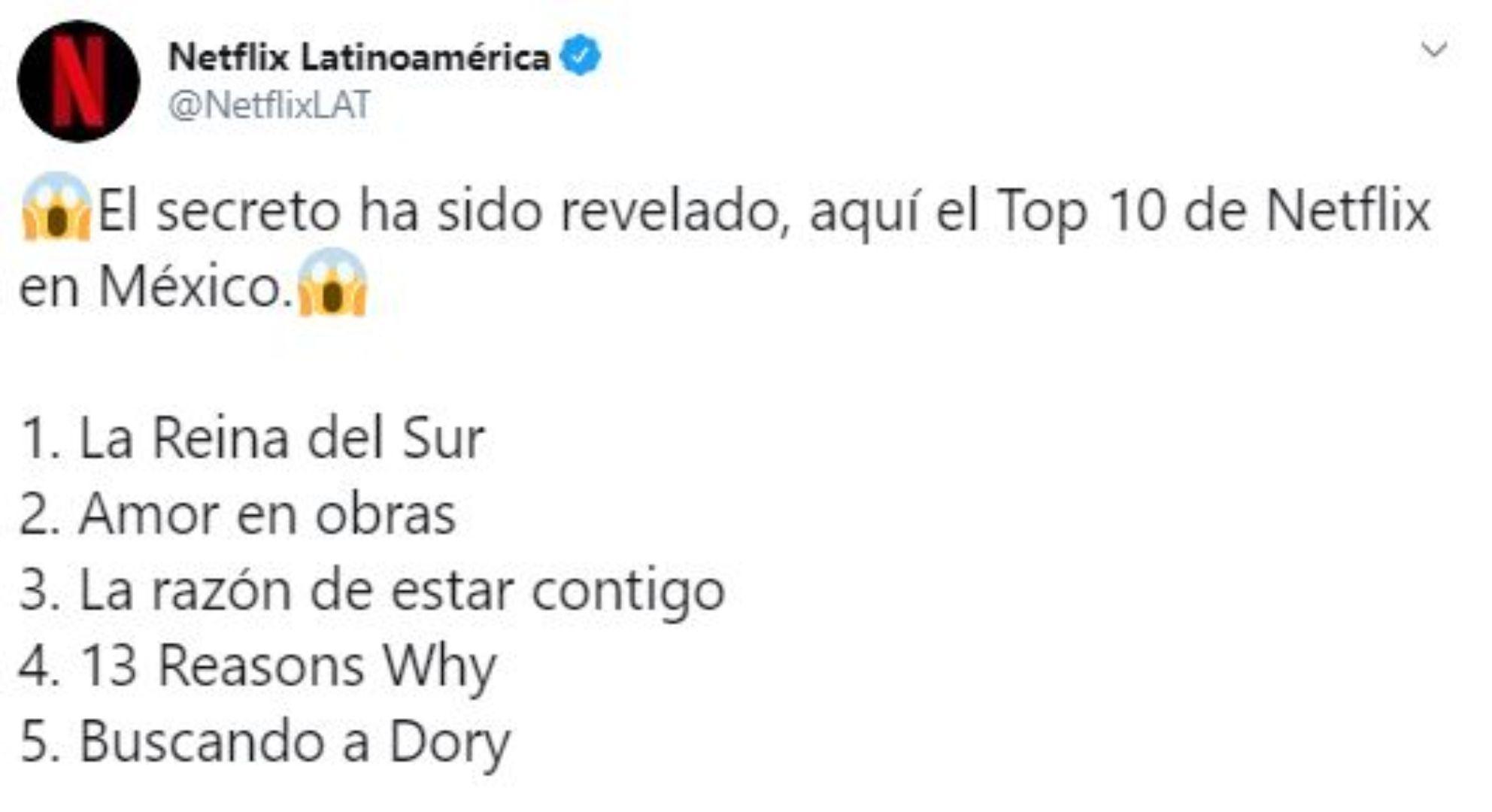 La Reina del Sur es la serie más vista en México según revela la nueva función (Foto: Especial Twitter)