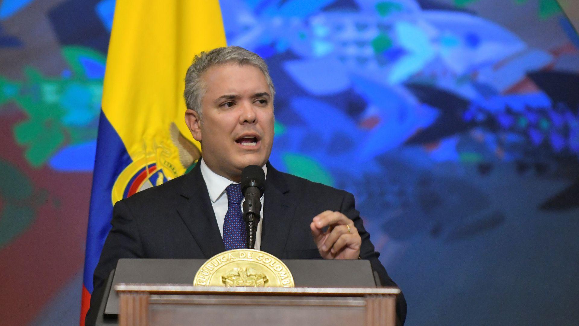 Iván Duque, ante el Congreso colombiano