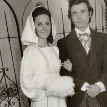 Florencia Peña compartió una foto del casamiento de sus padres