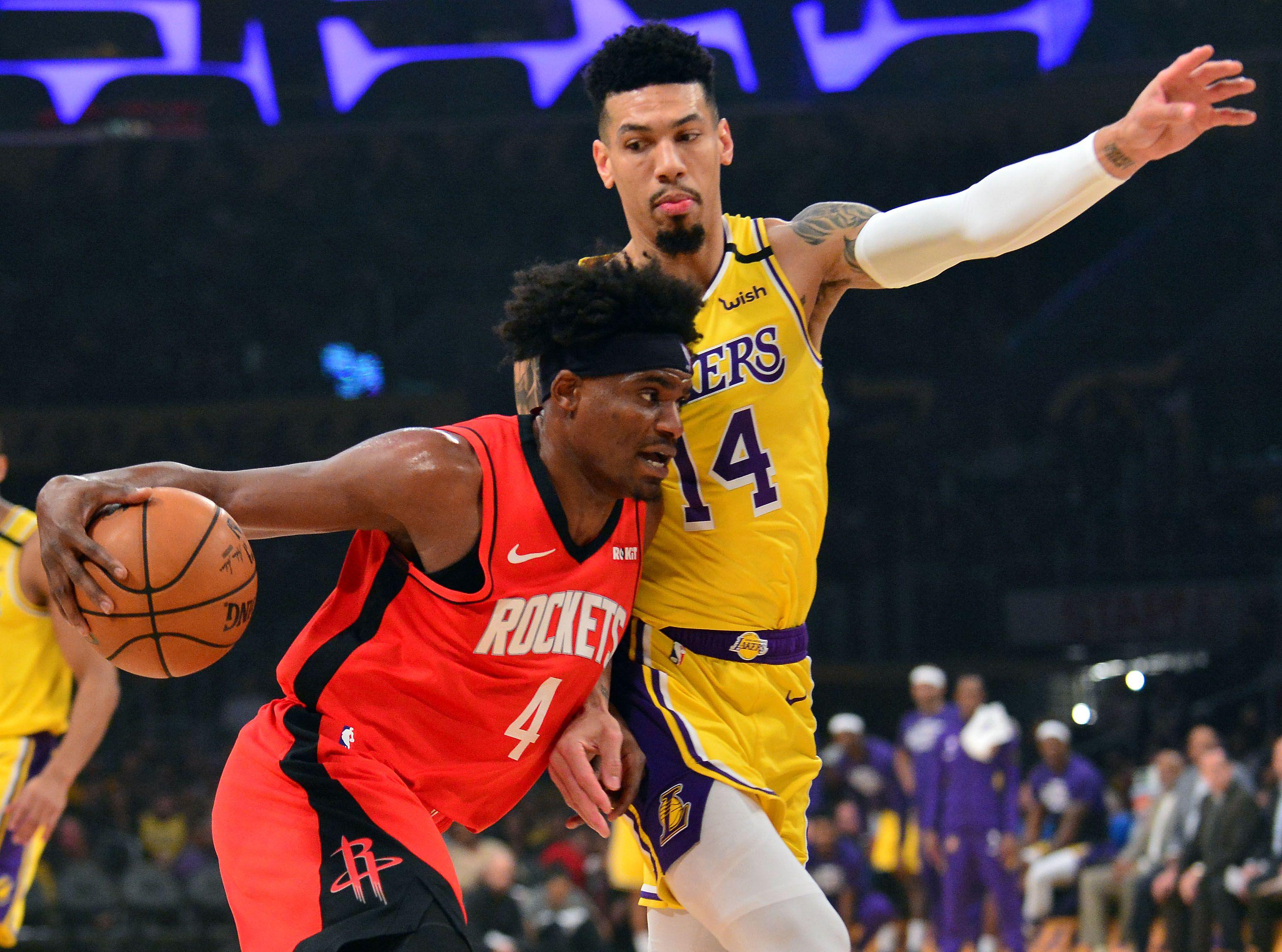 Danuel House Jr. ya se ausentó en el tercer partido de la serie ante los Lakers (USA TODAY Sports)