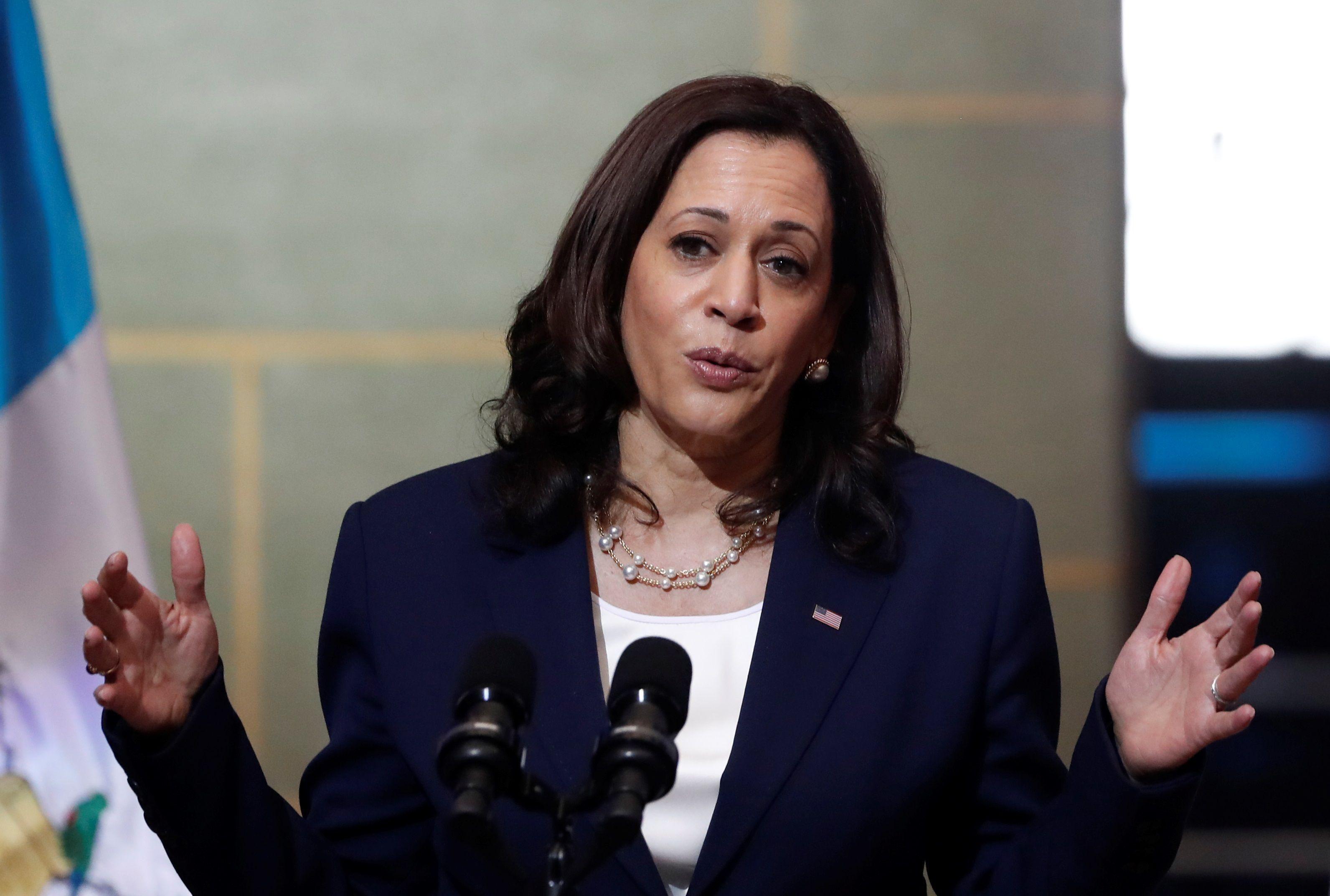 La vicepresidenta de Estados Unidos, Kamala Harris. EFE/Esteban Biba