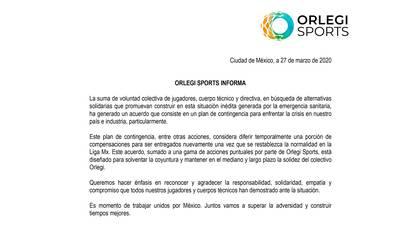 Atlas y Santos Laguna también acordaron reducir sus salarios (Foto: Orlegi Sports)