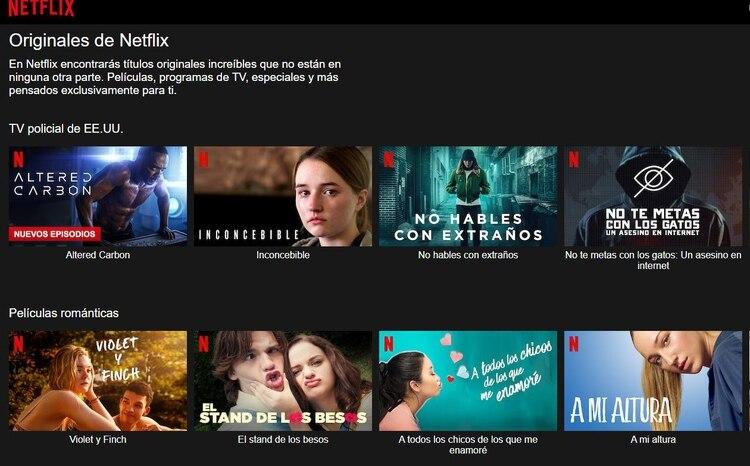 La reducción del tráfico en la red no se reflejará en la calidad en la que los usuarios ven en sus dispositivos (Captura de pantalla: Netflix México)