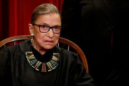 La jueza de la Corte Suprema de los Estados Unidos, Ruth Bader Ginsburg, murió a los 87 años. Foto: REUTERS/Jonathan Ernst