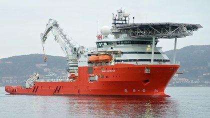 Los restos del SMS Schanrhorst fueron hallados por el buque multipropósito Seabed Constructor (Ocean Infinity)