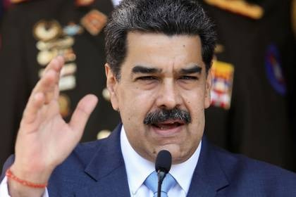 Foto de archivo del presidente de Venezuela, Nicolas Maduro, en una rueda de prensa en el Palacio de Miraflores en Caracas.  Mar 12, 2020. REUTERS/Manaure Quintero
