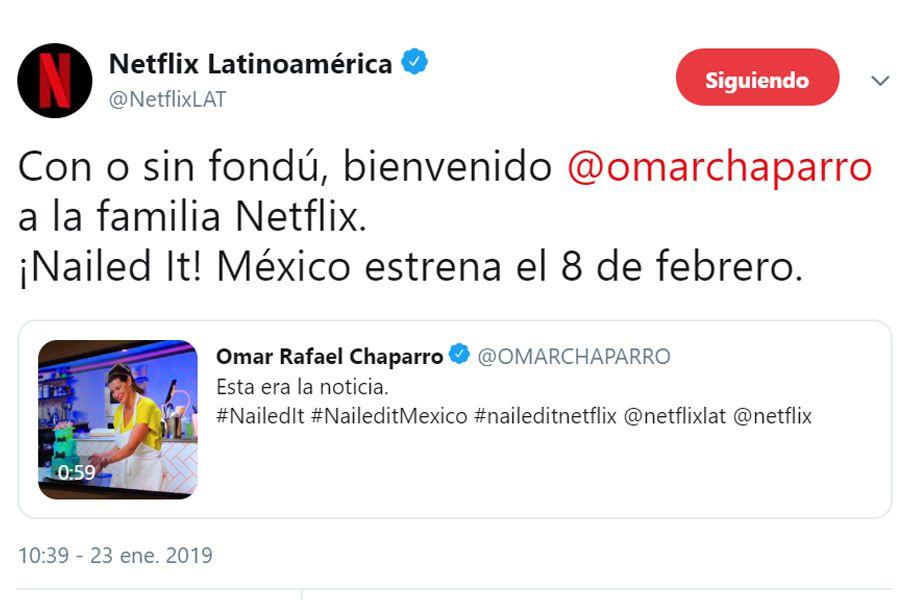 (Foto: Twitter/NetflixLAT)