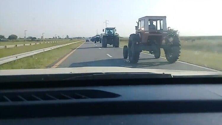 Tractorazo en Córdoba, en Alto Fierro