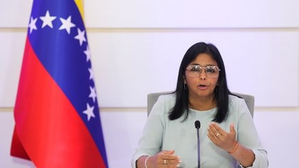 Venezuela's VP Rodriguez holds news conference in Caracas